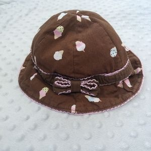 NEW Baby Gymboree Girls Reversible Summer Hat Size 12-18 Months NWT